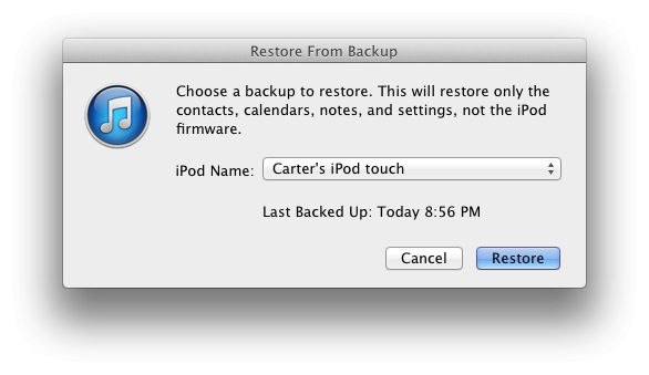 how to backup and restore automatically and manually in itunes 11 rh 148apps com iTunes 13 New Version of iTunes 11.0.1