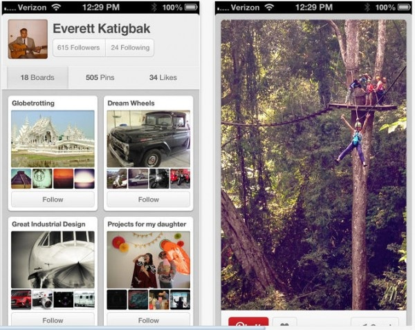 Pinterest Update Provides Users with Easier Navigation and a New iOS