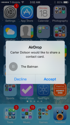 How to use airdrop on ios 7 148apps but not to facetime or to save it to your contacts this is great in lieu of business card trading see a cool link in safari share it with airdrop ccuart Images