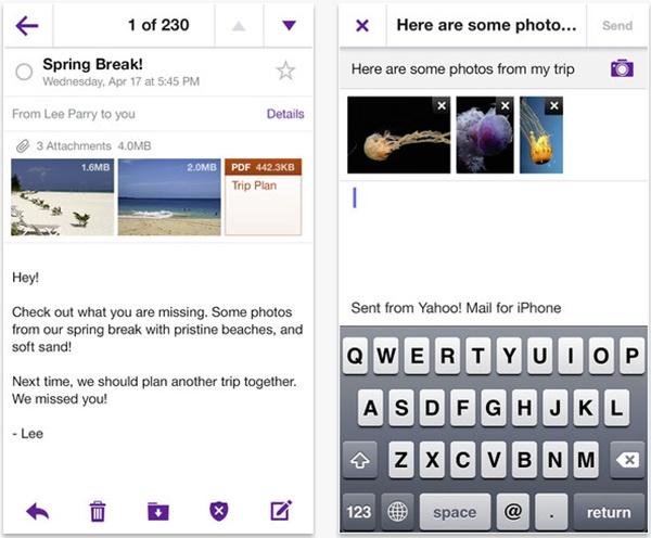 mail yahoo app