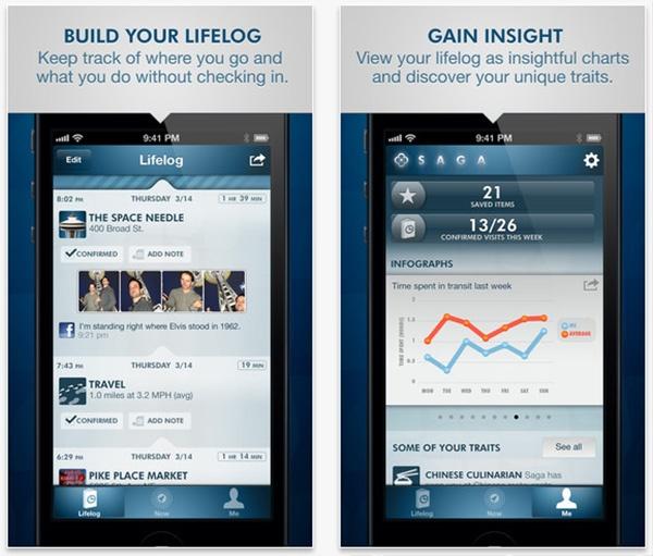 Saga Lifelogging App Records Your Every Move, Isn't Creepy