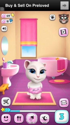 My talking angela review 148apps brushing angelas teeth is a matter of swiping a finger around her mouth with a similar action for bathing her giving her regular nap times is also altavistaventures Images