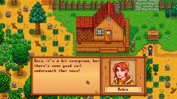 stardew valley robin overgrown farm