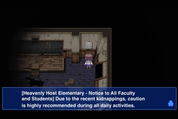 corpse party ios abandoned school notice blue box
