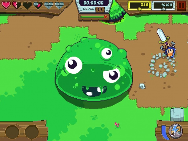 dizzy knight ios big slime monster