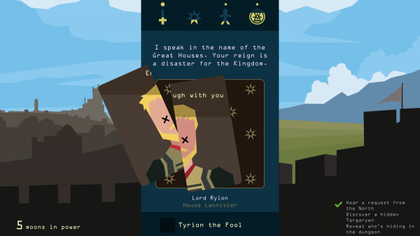 Reigns: Game of Thrones screenshot - Making a tough choice