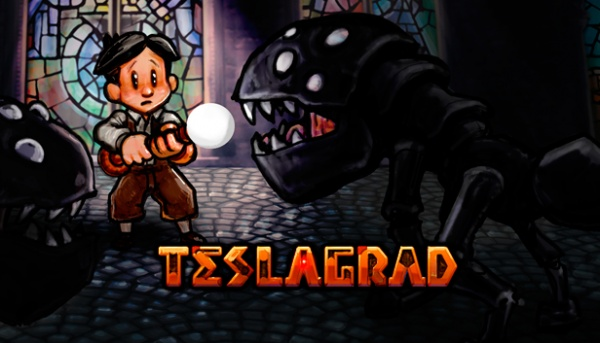 Teslagrad artwork - The main character and an enemy