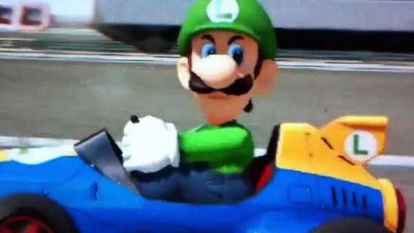 Luigi death stare Mario Kart
