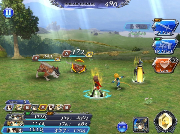 Dissidia Final Fantasy OO - Master the Bravery system