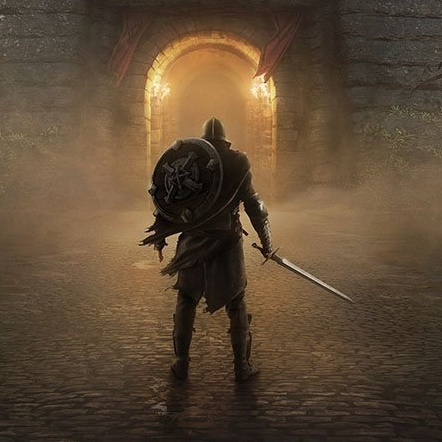 The Elder Scrolls: Blades iOS artwork - A warrior before a door