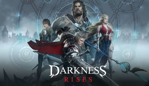 Darkness Rises artwork showing the main characters