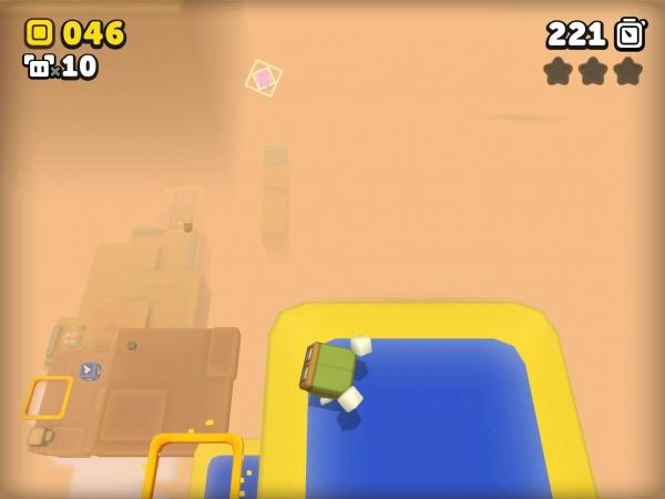 Suzy Cube review screenshot - A desert level