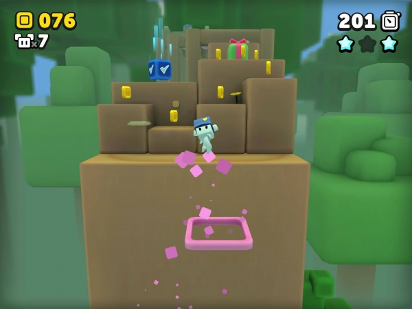 Suzy Cube review screenshot - A forest level