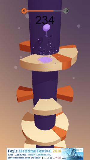 Helix Jump iOS guide screenshot - A purple level