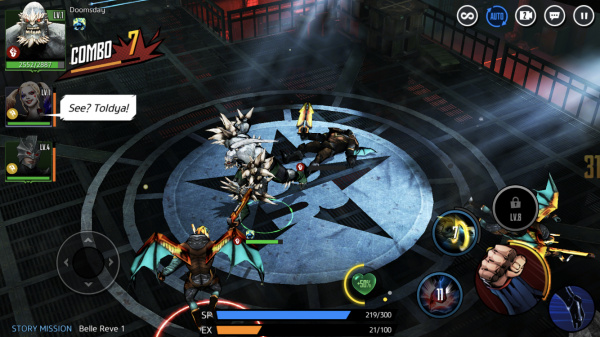 DC Unchained preview screenshot - Doomsday fighting in a prison