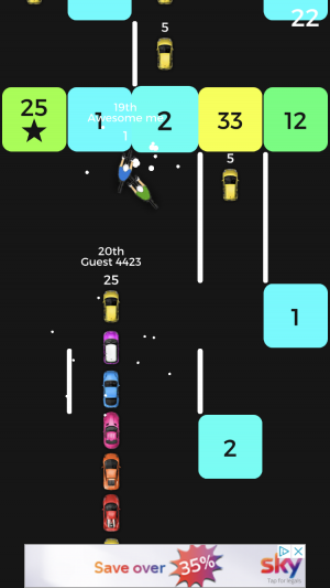 Snake vs Block iOS multiplayer guide screenshot - A car snake