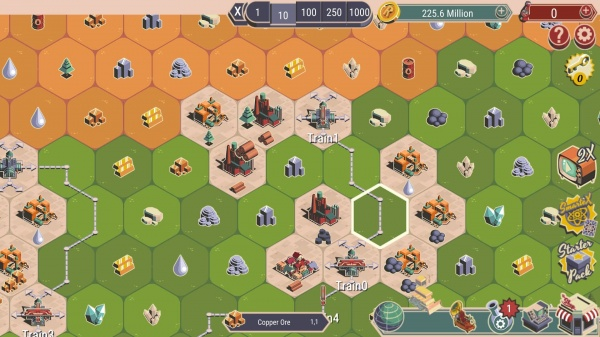 Rocket Valley Tycoon iOS review screenshot - Starting to build in the valley