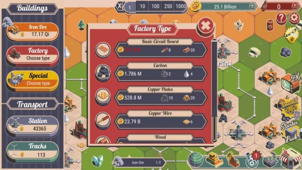 Rocket Valley Tycoon iOS review screenshot - One of the menus