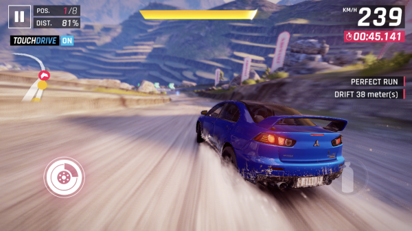 Asphalt 9: Legends iOS preview screenshot - Getting some drift