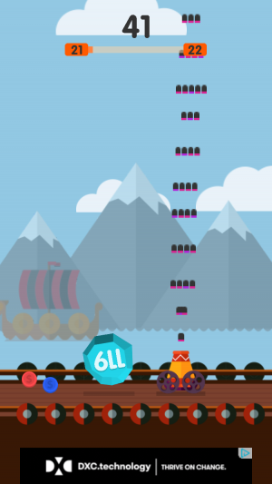 Ball Blast iOS guide screenshot - Shooting near some mountains