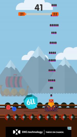 Ball Blast iOS guide screenshot - Shooting near some mountains
