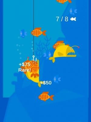 The Fishing Master iOS guide screenshot - Catching a fish