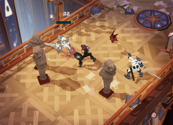 The Might Quest for Epic Loot iOS preview screenshot - One of the early fights