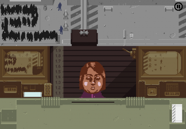 Papers, Please iOS screenshot - An applicant at the border