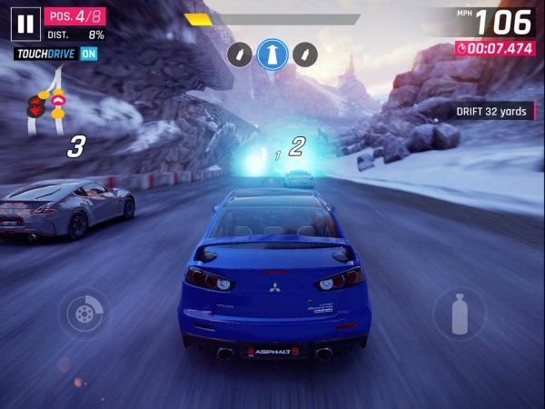 Asphalt 9 iOS review screenshot - Driving one of the early cars