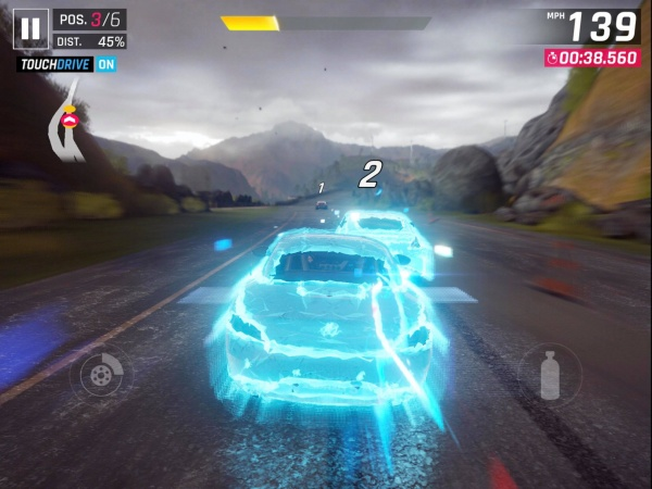 Asphalt 9 iOS review screenshot - Launching into a boost