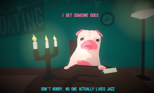 pink pug hot date candlelit dinner