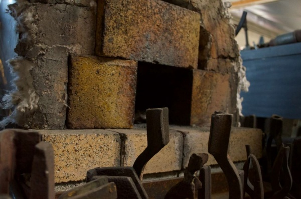 A shot of Tony's forge in his workshop