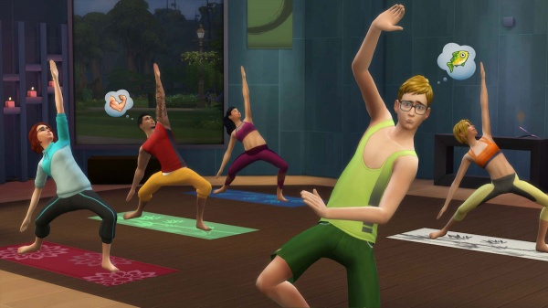 the sims 4 yoga green tank top