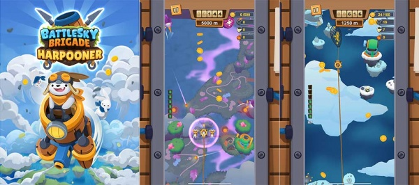 Shoot 'em up action awaits in BattleSky Brigade: Harpooner, available on Apple Arcade