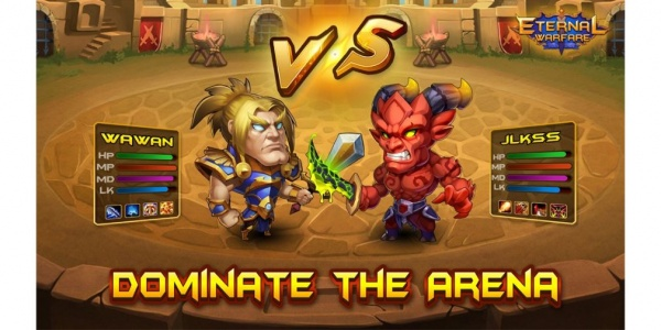 Eternal Warfare is a new idle clicker for iOS and Android that puts heavy emphasis on the idle aspect