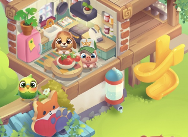 Pet Rescue Puzzle Saga screenshot - Some of the cute critters