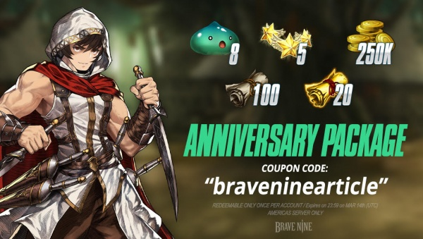 Brave Nine receives a major anniversary update that introduces the World Arena, new Companions and Underground Evil Castle dungeon