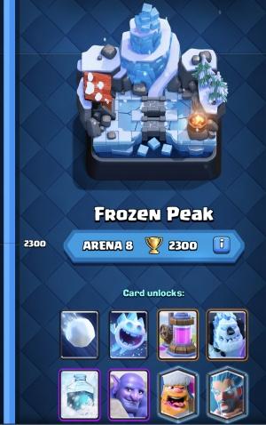 Clash Royale: The Road to Legendary Arena: Frozen Peak